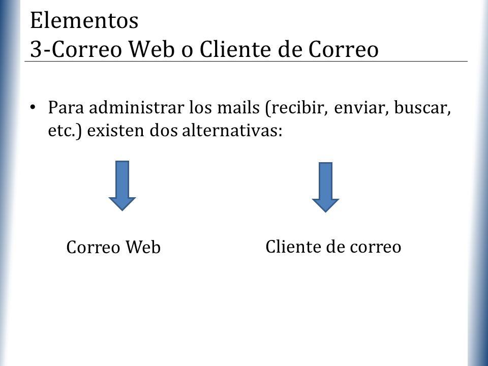 Elementos 3-Correo Web o Cliente de Correo