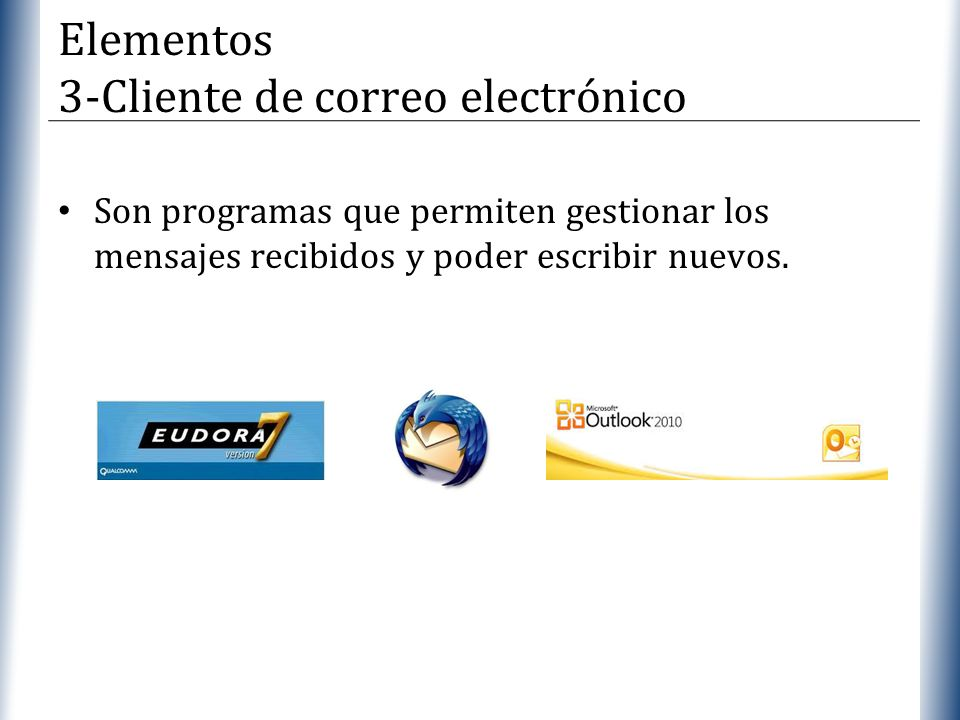Elementos 3-Cliente de correo electrónico