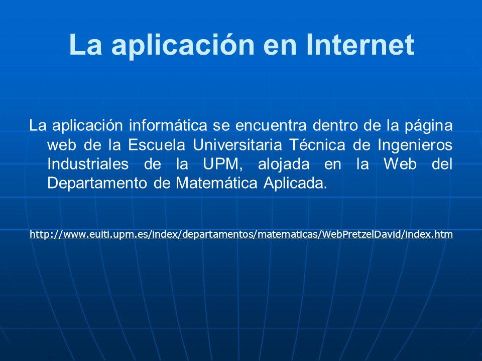 La aplicación en Internet