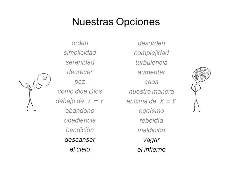 Nuestras Opciones orden desorden simplicidad complejidad serenidad