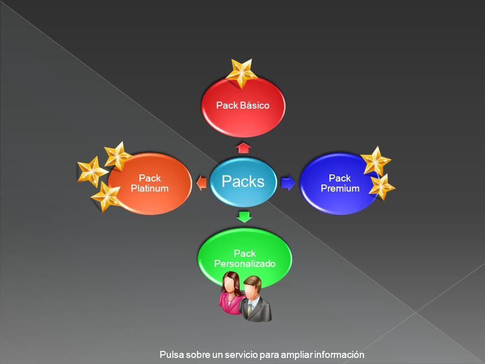 Packs Pulsa sobre un servicio para ampliar información Pack Básico