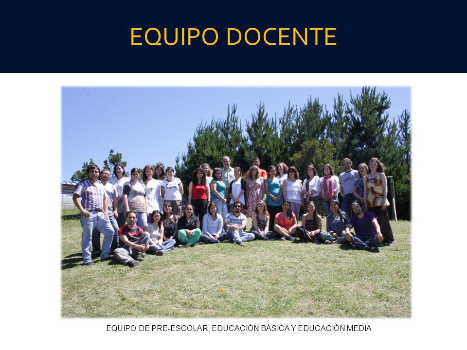 EQUIPO DE PRE-ESCOLAR, EDUCACIÓN BÁSICA Y EDUCACIÓN MEDIA