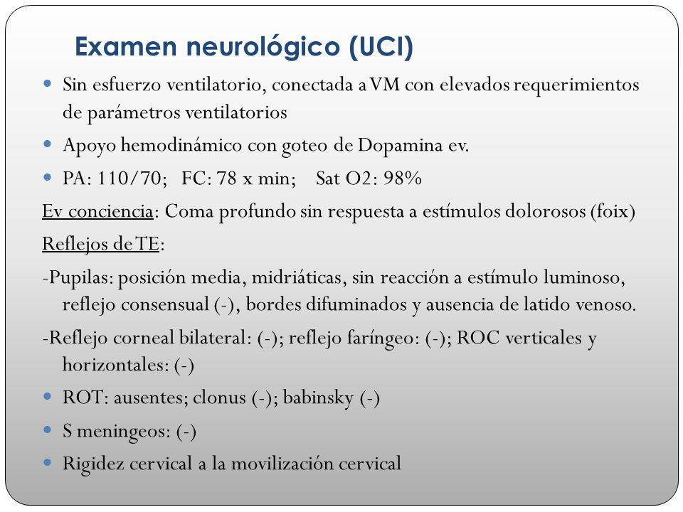 Examen neurológico (UCI)