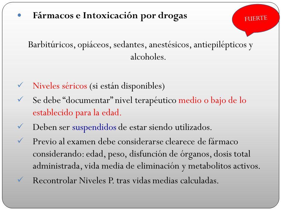 Fármacos e Intoxicación por drogas