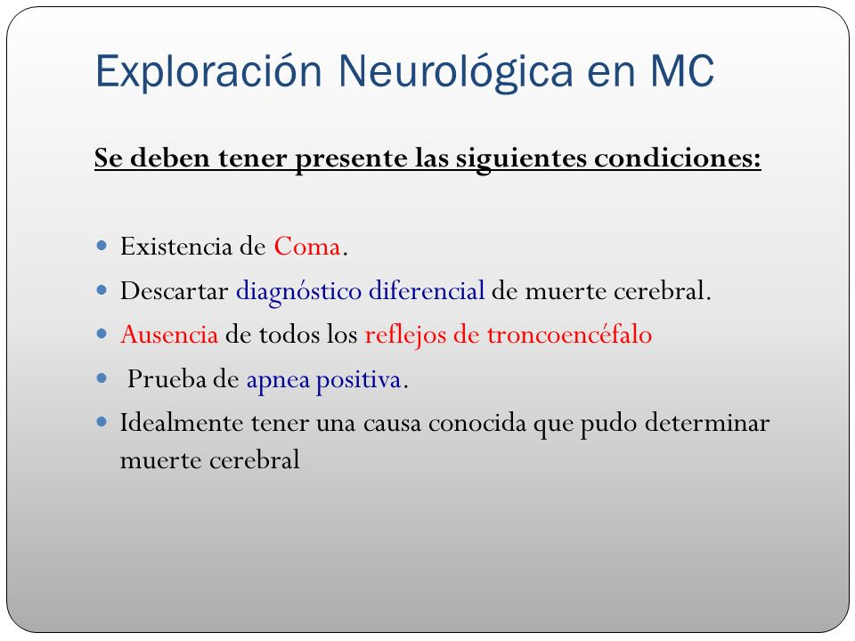 Exploración Neurológica en MC