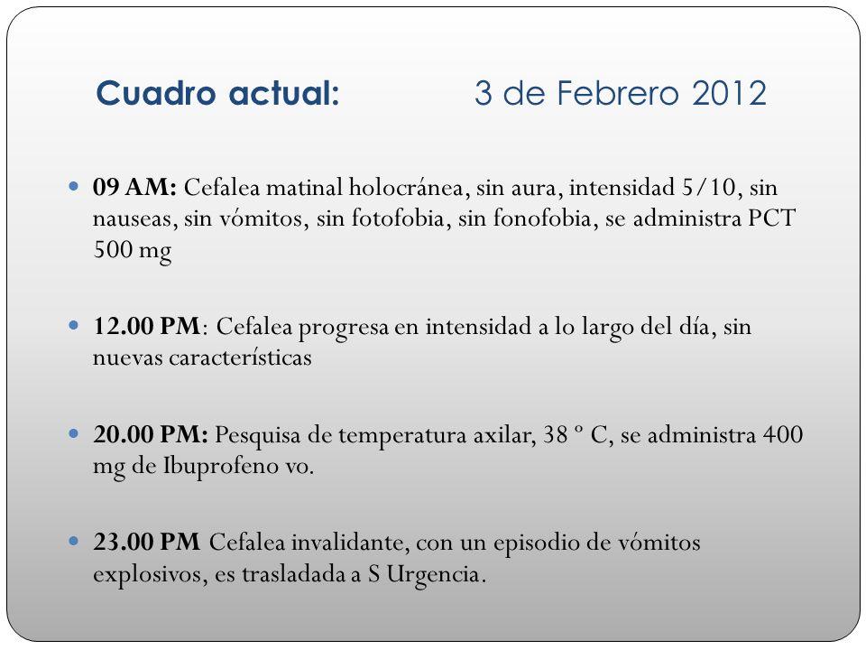 Cuadro actual: 3 de Febrero 2012