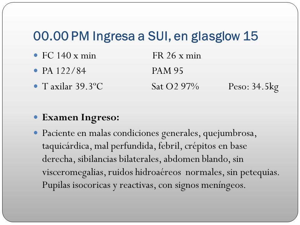 00.00 PM Ingresa a SUI, en glasglow 15