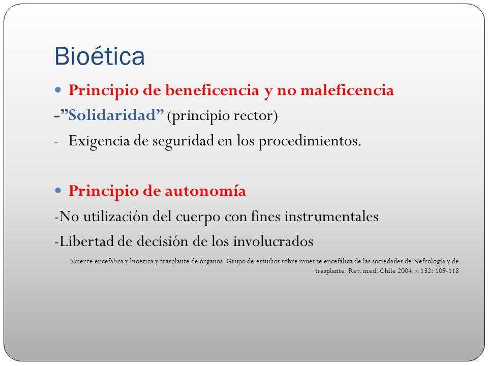 Bioética Principio de beneficencia y no maleficencia