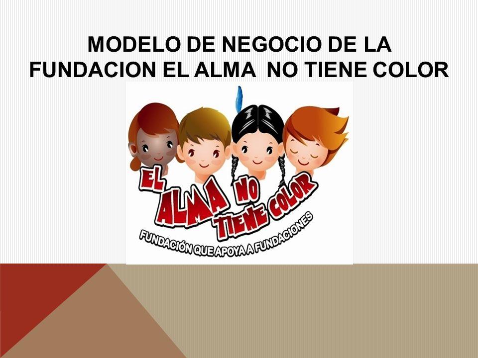 MODELO DE NEGOCIO DE LA FUNDACION EL ALMA NO TIENE COLOR