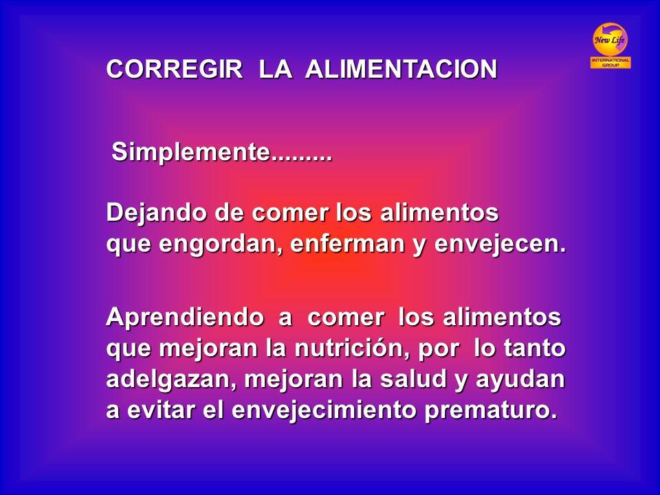 CORREGIR LA ALIMENTACION