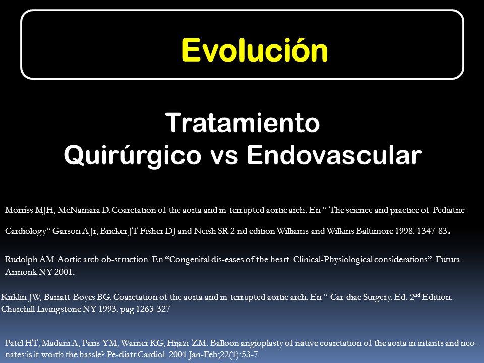 Tratamiento Quirúrgico vs Endovascular