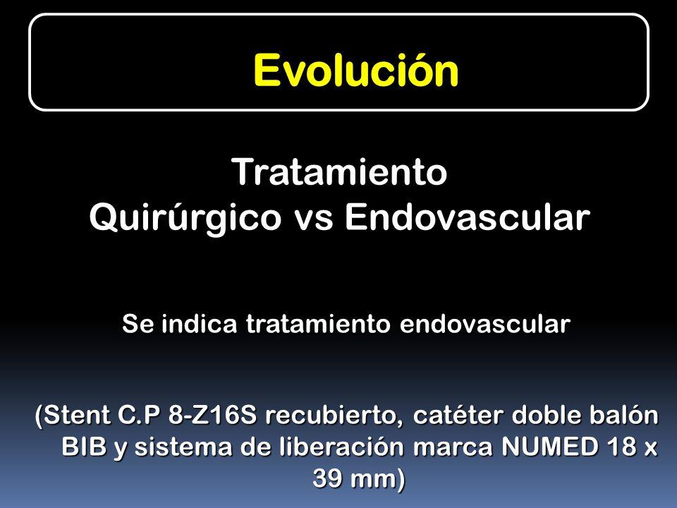 Evolución Tratamiento Quirúrgico vs Endovascular
