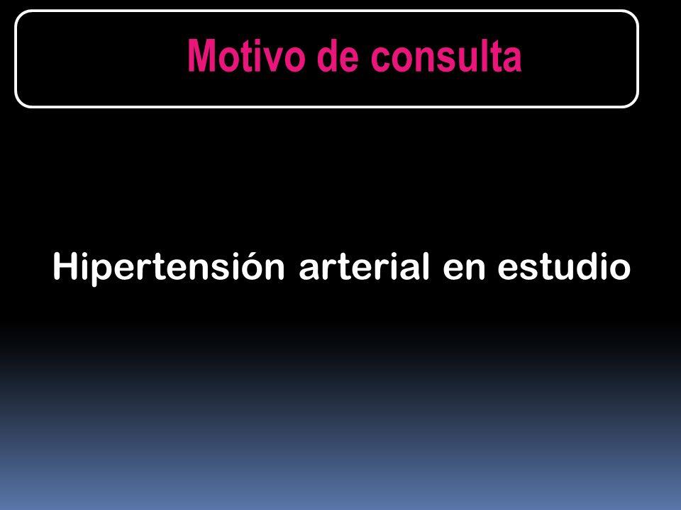 Hipertensión arterial en estudio