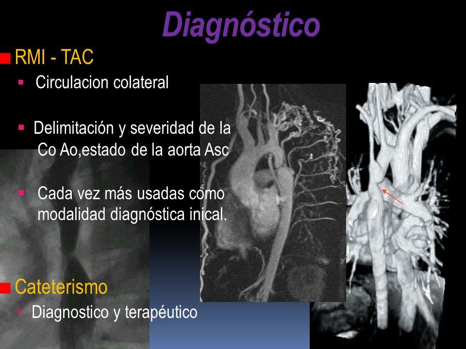 Diagnóstico RMI - TAC Cateterismo Circulacion colateral