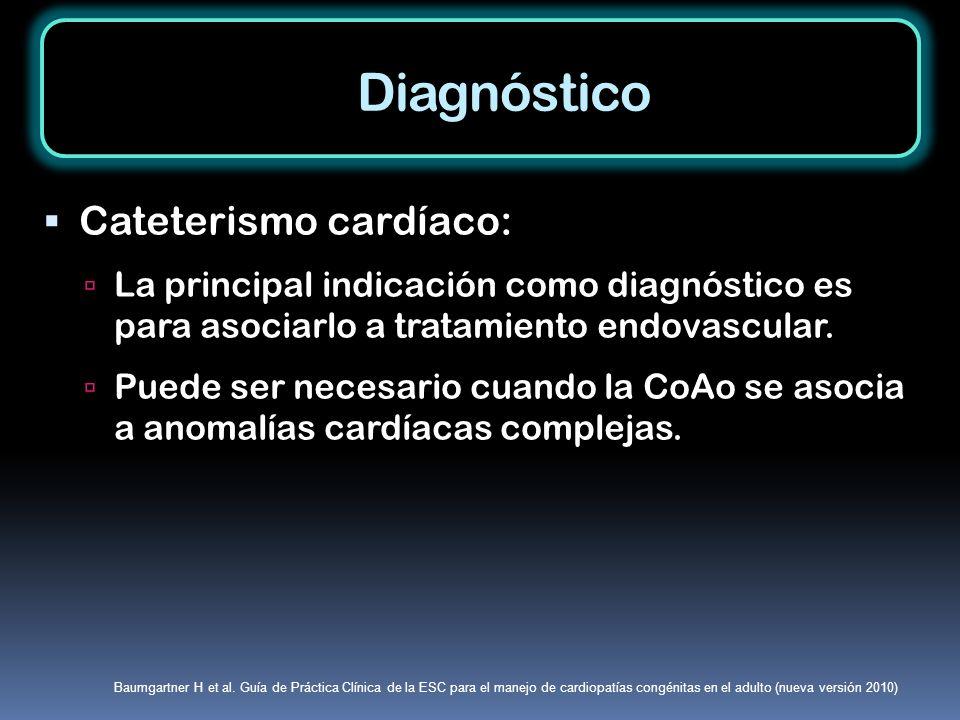 Diagnóstico Cateterismo cardíaco: