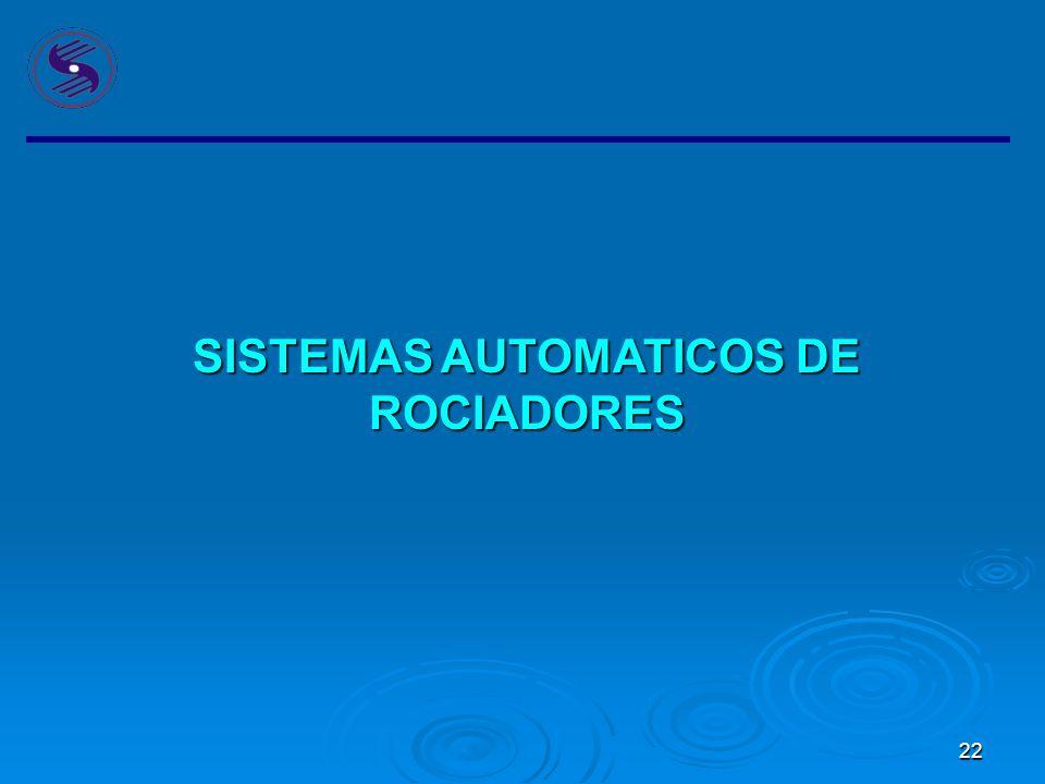 SISTEMAS AUTOMATICOS DE ROCIADORES