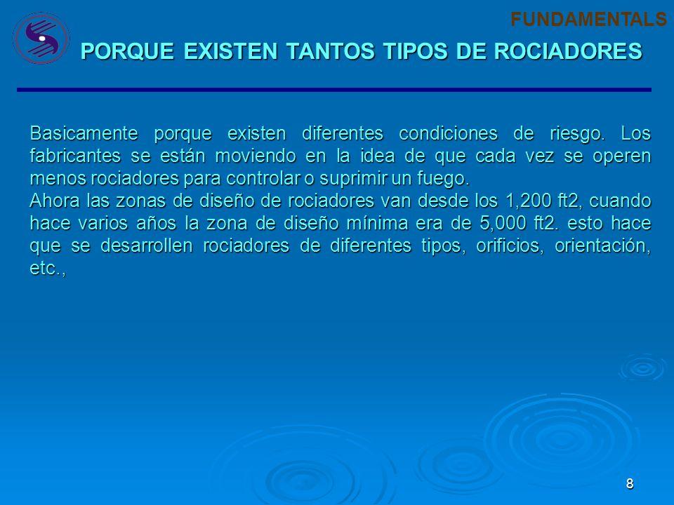 PORQUE EXISTEN TANTOS TIPOS DE ROCIADORES