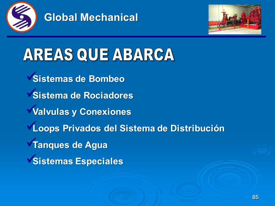 Global Mechanical Sistemas de Bombeo Sistema de Rociadores