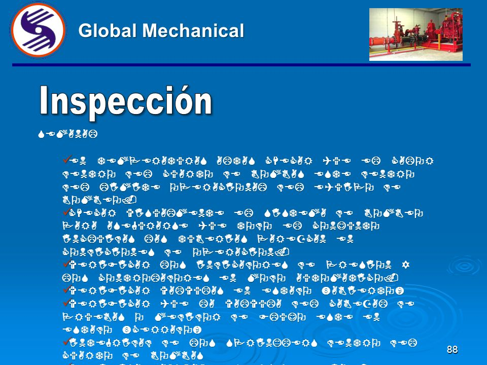 Global Mechanical Inspección SEMANAL