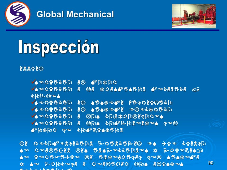 Global Mechanical Inspección ANNUAL SERVICIO AL MOTOR