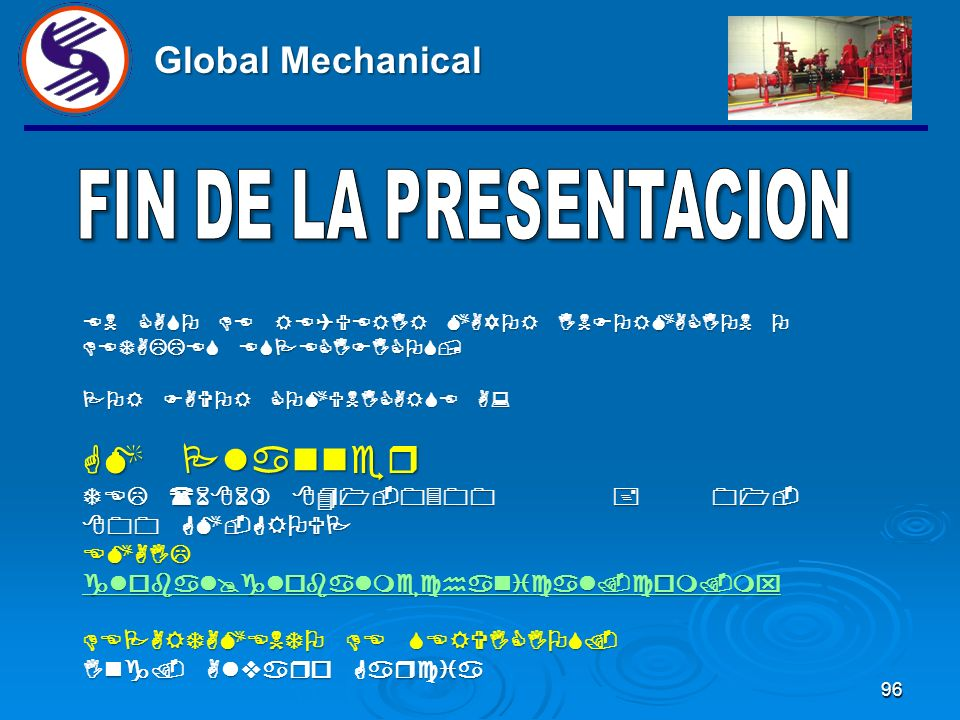 Global Mechanical GM Planner FIN DE LA PRESENTACION