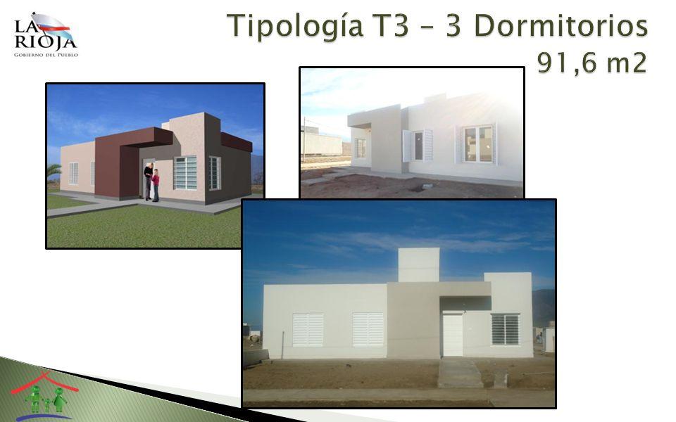 Tipología T3 – 3 Dormitorios 91,6 m2