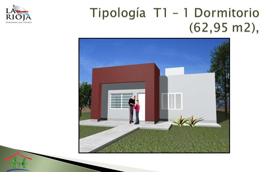 Tipología T1 – 1 Dormitorio (62,95 m2),