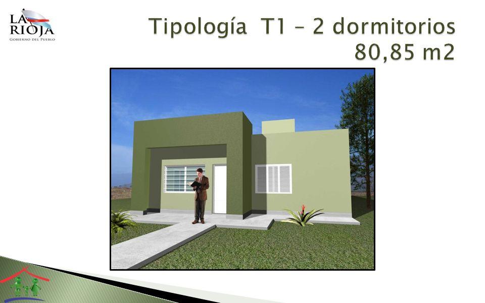 Tipología T1 – 2 dormitorios 80,85 m2