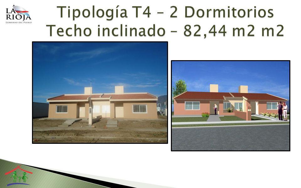 Tipología T4 – 2 Dormitorios Techo inclinado – 82,44 m2 m2