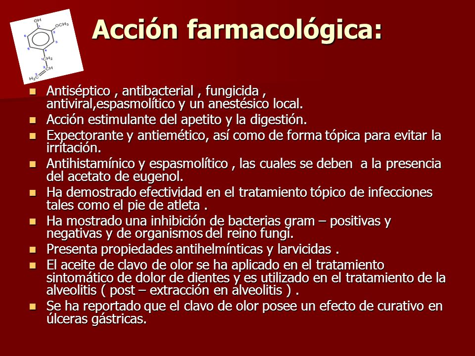 Acción farmacológica: