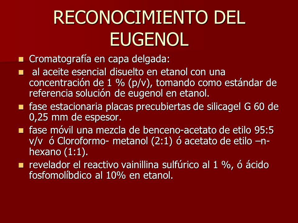 RECONOCIMIENTO DEL EUGENOL