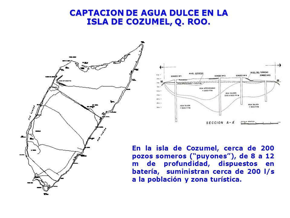 CAPTACION DE AGUA DULCE EN LA