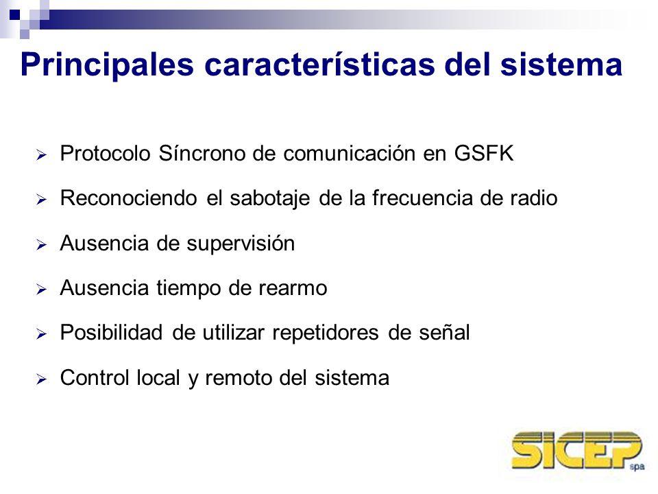 Principales características del sistema
