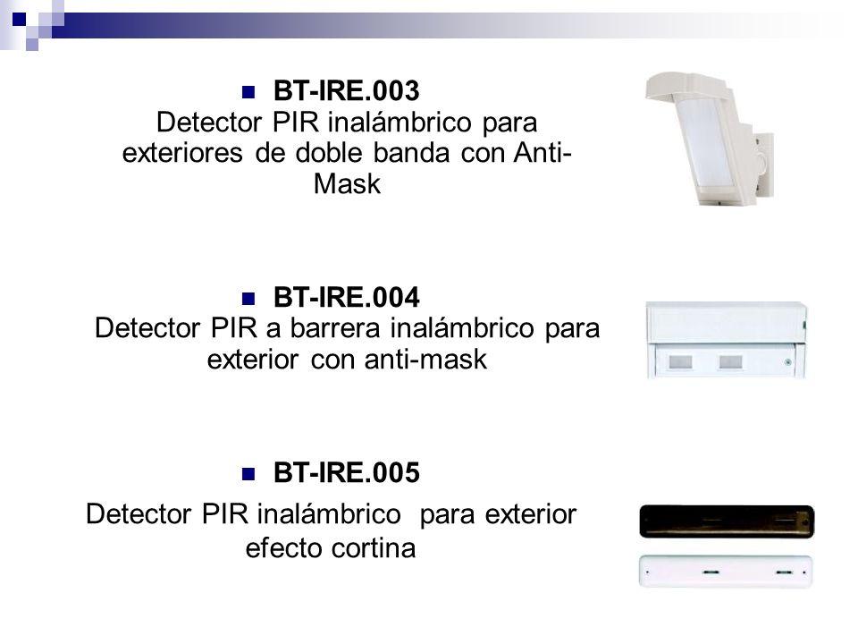 Detector PIR inalámbrico para exterior efecto cortina