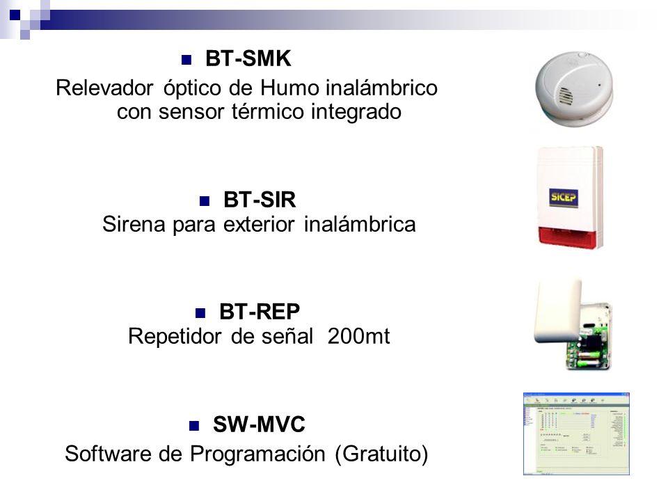 Relevador óptico de Humo inalámbrico con sensor térmico integrado