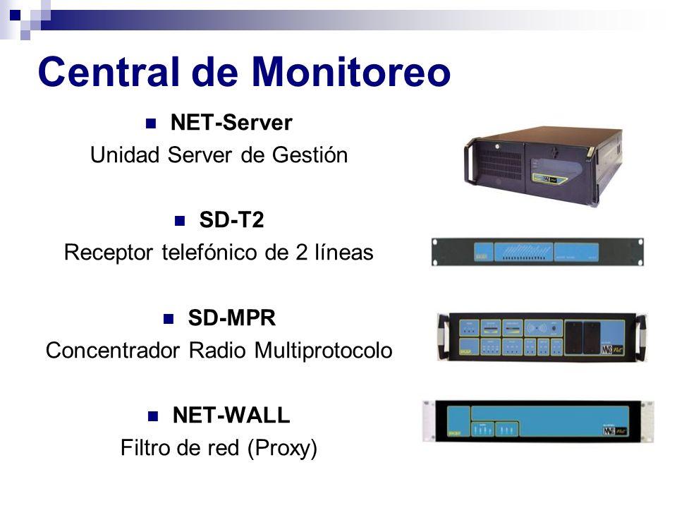 Central de Monitoreo NET-Server Unidad Server de Gestión SD-T2