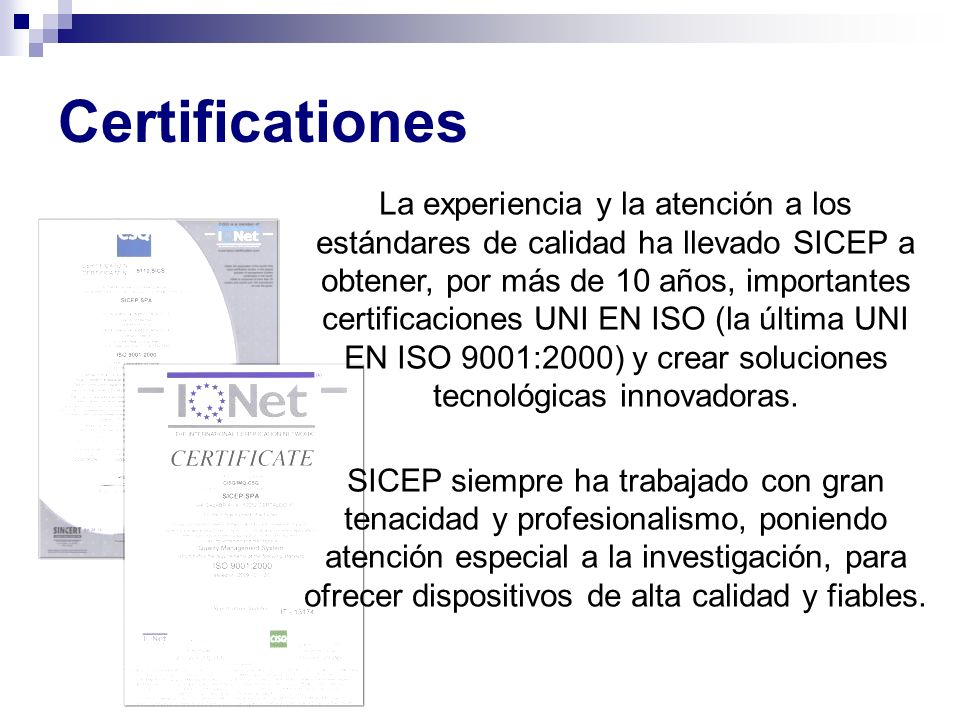 Certificationes