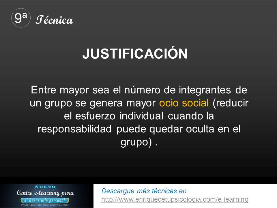 9ª JUSTIFICACIÓN Técnica