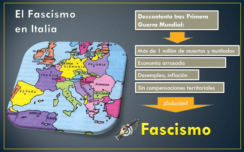 Fascismo El Fascismo en Italia