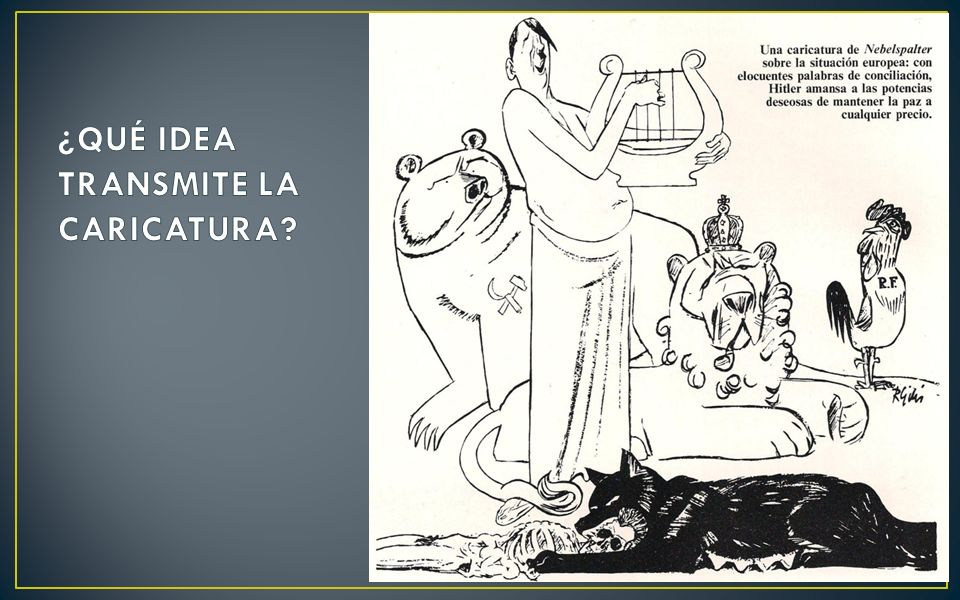 ¿QUÉ IDEA TRANSMITE LA CARICATURA