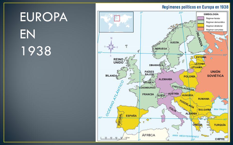 EUROPA EN 1938