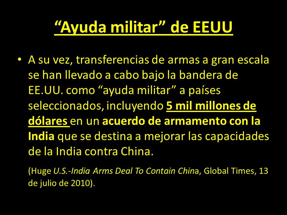 Ayuda militar de EEUU