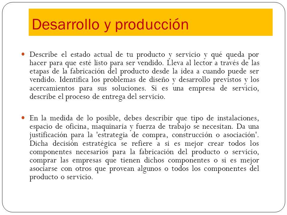 Desarrollo y producción