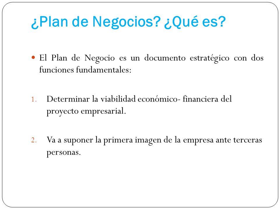 ¿Plan de Negocios ¿Qué es