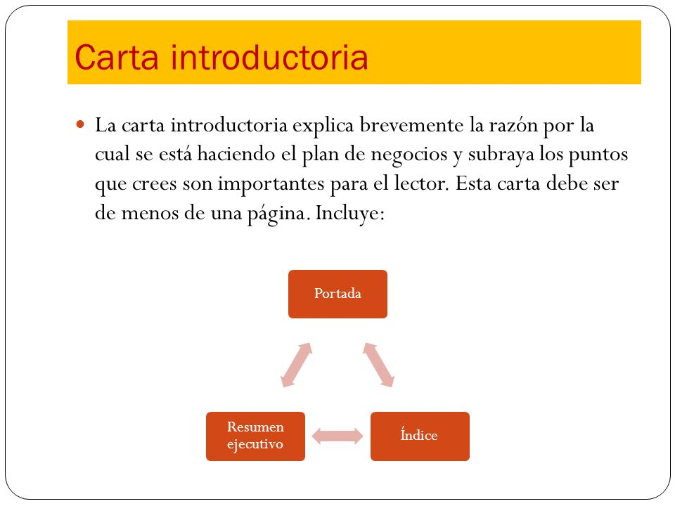 Carta introductoria