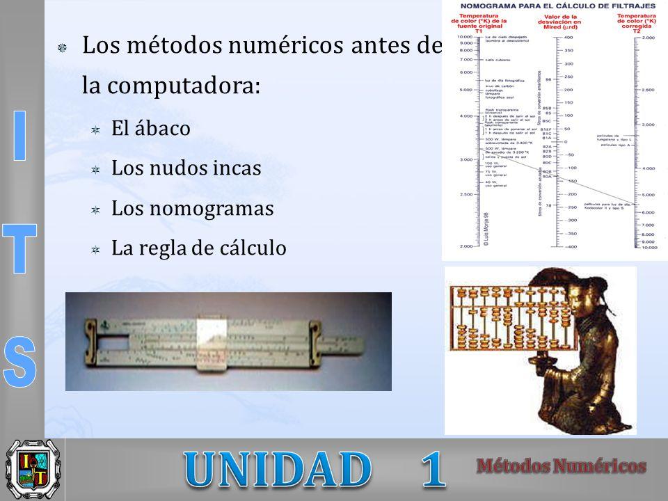 Los métodos numéricos antes de la computadora: