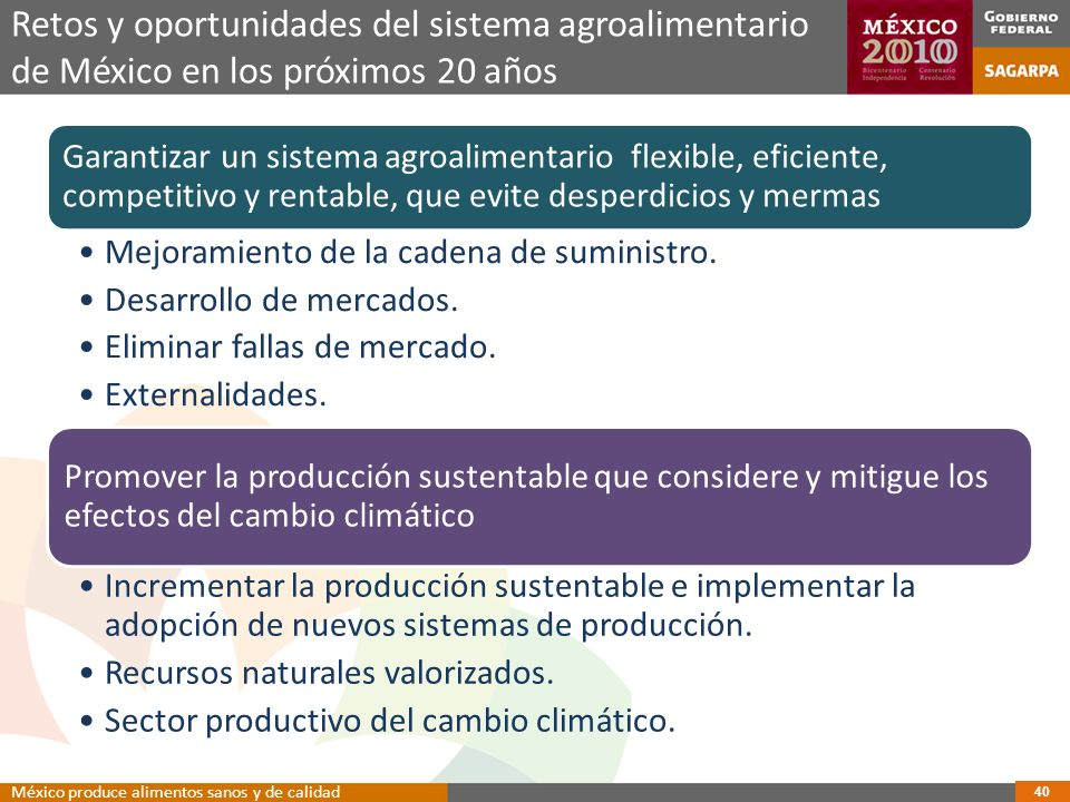 Retos y oportunidades del sistema agroalimentario de México en los próximos 20 años