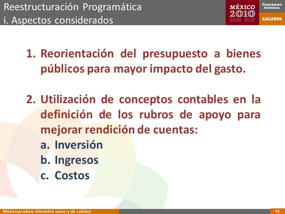 Reestructuración Programática