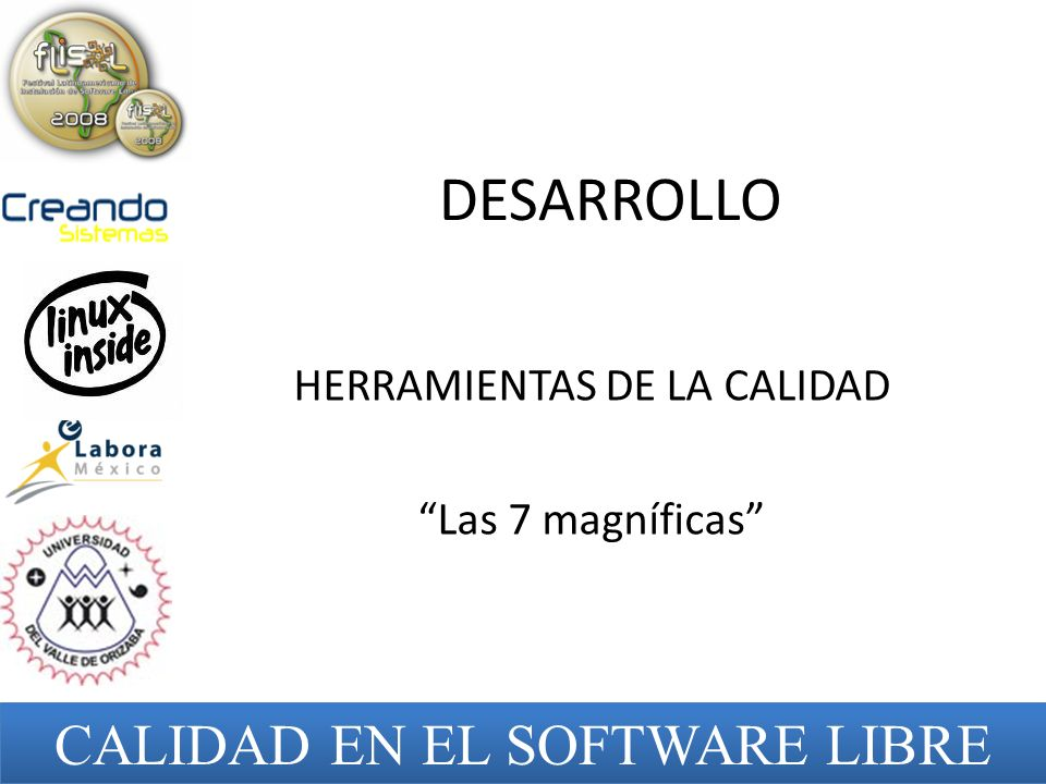 HERRAMIENTAS DE LA CALIDAD Las 7 magníficas