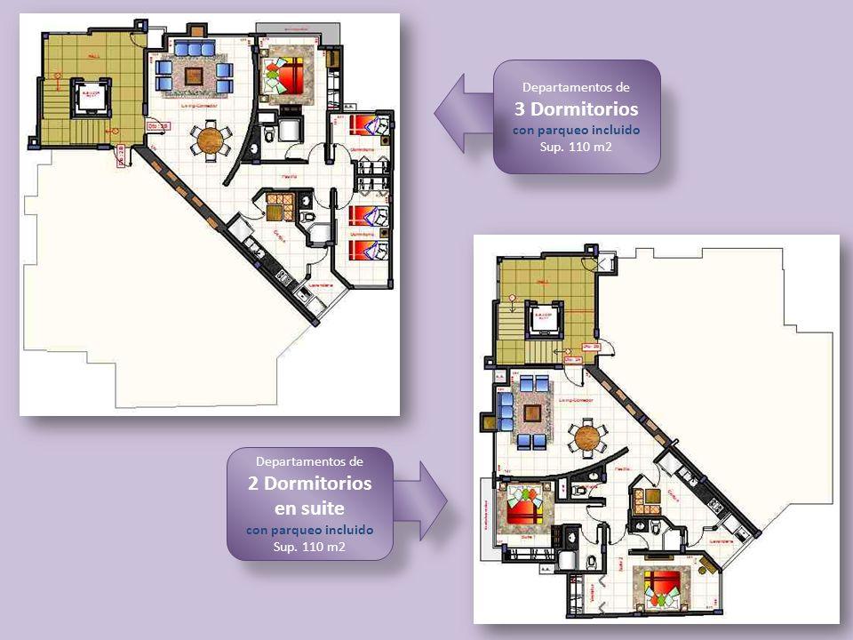 3 Dormitorios 2 Dormitorios en suite